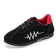 baratos Sapatos de Menino-Para Meninos Sapatos Couro Ecológico Primavera Verão Conforto / Solados com Luzes Tênis Corrida Cadarço para Infantil Preto / Cinzento /