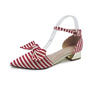 baratos Sapatos Femininos-Mulheres Sapatos Couro Ecológico Primavera Verão Conforto / D'Orsay Rasos Caminhada Salto de bloco Dedo Aberto Tachas Preto / Fúcsia