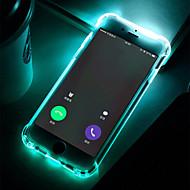 tanie -Kılıf Na jabłko iPhone 8 / iPhone 7 Odporne na wstrząsy / Światło LED / Przezroczyste Czarne etui Jendolity kolor Miękkie TPU na iPhone X / iPhone 8 Plus / iPhone 8