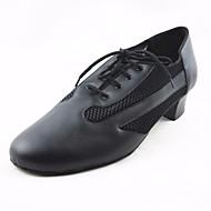 billige Men's Dance Shoes-Herre Sko til latindans PU Oxford Tykk hæl Dansesko Svart / Ytelse / Trening
