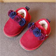 tanie Obuwie dziewczęce-Dla dziewczynek Obuwie Polar Zima Wygoda Tenisówki Kwiat na Czarny / Czerwony