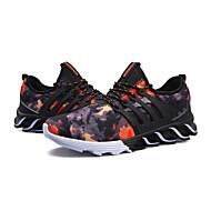 baratos Sapatos Masculinos-Homens Tule / Couro Ecológico Outono Conforto Tênis Corrida / Caminhada Estampa Colorida Preto / Roxo / Vermelho