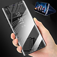 billiga Mobil cases & Skärmskydd-fodral Till Xiaomi Redmi 5 Plus / Redmi 5 med stativ / Spegel Fodral Enfärgad Hårt PU läder för Xiaomi Redmi Note 4X / Xiaomi Redmi 5 Plus / Xiaomi Redmi 5