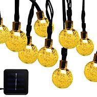 abordables Luces-6m Cuerdas de Luces 30 LED 1 conjunto de soporte de montaje Blanco Cálido / RGB / Blanco Solar / Impermeable / Decorativa Funciona con Energía Solar 1 juego