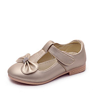 cheap Girls' Shoes-Girls' Shoes PU Spring & Summer Mary Jane Flats Bowknot for Birthday Party & Evening Gold White Pink