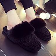 tanie Pantofle-Pantofle damskie Pantofle wsuwane Zwyczajny / Na co dzień Polar Jeden kolor