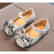 お買い得  フラワーガールシューズ-女の子 靴 PUレザー 春 コンフォートシューズ / フラワーガールシューズ フラット のために ブラック / グレー / ピンク