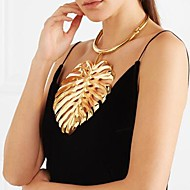 Damen Pendant Halskette Statement Ketten Vintage Halskette Stilvoll Anhängerketten Origami Blattform Kreativ damas Einzigartiges Design Europäisch überdimensional Zink Aleación Gold Schwarz Silber