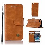 Etui Til Apple iPhone 5 etui Pung / Kortholder / Med stativ Fuldt etui Ensfarvet Hårdt PU Læder for iPhone SE / 5s / iPhone 5