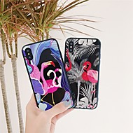 billiga Mobil cases & Skärmskydd-fodral Till Apple iPhone X / iPhone 8 Mönster Skal Flamingo Hårt Härdat glas för iPhone X / iPhone 8 Plus / iPhone 8