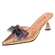 Χαμηλού Κόστους Γυναικεία Τσόκαρα & Μιουλ-Γυναικεία Παπούτσια Ύφασμα / PU Άνοιξη / Καλοκαίρι Ανατομικό Σαμπό & Mules Κοντόχοντρο Τακούνι Μυτερή Μύτη Φιόγκος Μαύρο / Μπεζ / Κόκκινο