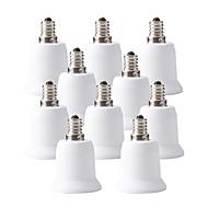 billige belysning Tilbehør-ZDM® 10pcs E12 til E27 E26 / E27 E12 Omformer Bulb Accessory Lysstikkontakt Plast og Metall