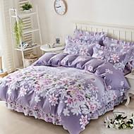 baratos Edredons Florais-Conjunto de Capa de Edredão Floral 100% algodão Jacquard 3 Peças