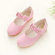 baratos Sapatos de Menina-Para Meninas Sapatos Courino Outono Sapatos para Daminhas de Honra Sapatos de Barco para Pêssego / Vermelho / Rosa claro