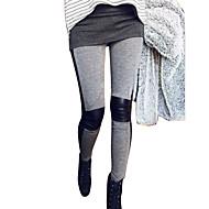 Mujer Encaje de costura Poliuretano Legging - Retazos Media cintura