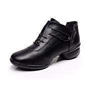 preiswerte Dance Boots-Damen Tanzstiefel Leder Sneaker / Absätze Leistung / Praxis Niedriger Heel Tanzschuhe Schwarz / Rot / Blau