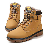 baratos Sapatos Masculinos-Homens Coturnos Couro Ecológico Inverno Coturnos Botas Botas Curtas / Ankle Preto / Castanho Claro / Castanho Escuro