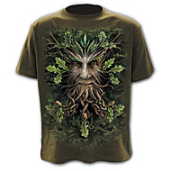 Homens Camiseta Exagerado Moda de Rua Estampado, Estampa Colorida Retrato Animal