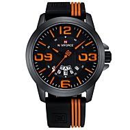 billige Sportsur-Herre Sportsur Japansk Kronograf / Vandafvisende Silikone Bånd Afslappet / Mode Hvid / Rød / Orange