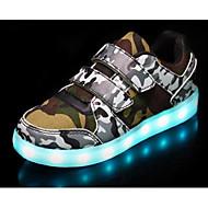baratos Sapatos de Menino-Para Meninos Sapatos Couro Ecológico Outono Conforto / Tênis com LED Tênis para Branco / Preto / Verde