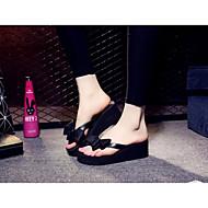 Mulheres Sapatos EVA Verão Conforto Chinelos e flip-flops Creepers para Casual Preto Fúcsia Rosa claro