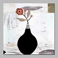 billiga Blom-/växtmålningar-Hang målad oljemålning HANDMÅLAD - Stilleben Blommig / Botanisk Vintage Duk
