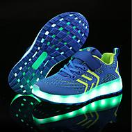 baratos Sapatos de Menino-Para Meninos / Para Meninas Sapatos Tricô / Tule Primavera Verão Conforto / Tênis com LED Tênis LED para Preto / Azul / Rosa claro