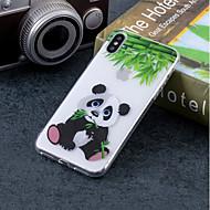 billiga Mobil cases & Skärmskydd-fodral Till Apple iPhone X / iPhone 8 IMD / Mönster Skal Panda Mjukt TPU för iPhone X / iPhone 8 Plus / iPhone 8