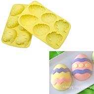 baratos Moldes para Bolos-Ferramentas bakeware Silicone Criativo / Faça Você Mesmo Cupcake / Chocolate / para ovos Moldes de bolos / Cortadores de Massa 1pç