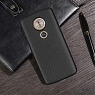 billiga Mobil cases & Skärmskydd-fodral Till Motorola Moto G6 Play / Moto G6 Plus Läderplastik Skal Enfärgad Mjukt TPU för MOTO G6 / Moto G6 Play / Moto G6 Plus