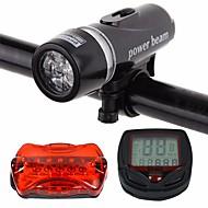 baratos -Luz Frontal para Bicicleta / Luz Traseira Para Bicicleta / Jogo de Luzes Recarregáveis para Bicicleta LED Ciclismo Impermeável, Portátil, Á Prova-de-Pó Li-Ion 400 lm Branco Ciclismo