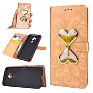 billiga Mobil cases & Skärmskydd-fodral Till LG G7 Plånbok / Korthållare / Flytande vätska Fodral Hjärta Hårt PU läder för LG G7