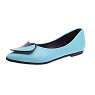 Χαμηλού Κόστους Γυναικείες Μπαλαρίνες-Γυναικεία Παπούτσια PU Ανοιξη καλοκαίρι Ανατομικό Χωρίς Τακούνι Περπάτημα Χαμηλό τακούνι Μυτερή Μύτη Φτερό Μαύρο / Μπλε / Ροζ