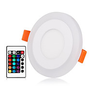 billige Innfelte LED-lys-ZDM® 1set 3 W 30 LED Nytt Design / Fjernkontroll / Mulighet for demping Panellys / Led-Nedlys RGB + Varm / RGB + Hvit 85-265 V