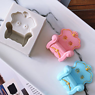 billige Bakeredskap-Bakeware verktøy Silikon Ferie / 3D-tegneseriefigur / Kreativ Sjokolade / For kjøkkenutstyr / Til Kake Rektangulær Cake Moulds 1pc