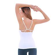 Dame Tanktopp med stropper Svart Grå Grønn sport Spandex Singleter Zumba Yoga & Danse Sko Pilates Ermeløs Sportsklær Pustende Fort Tørring Elastisk