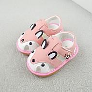baratos Sapatos de Menina-Para Meninas Sapatos Pêlo Sintético Primavera Verão Primeiros Passos Sandálias Caminhada Velcro para Bébé Azul / Rosa claro