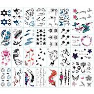 billiga Temporära tatueringar-30 pcs Klistermärke Djurserier / Blomserier / Totemserier Tatueringsklistermärken