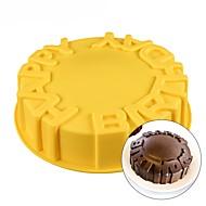 baratos Moldes para Bolos-Ferramentas bakeware Silicone Aniversário / Faça Você Mesmo Biscoito / Chocolate / para bolo Redonda Moldes de bolos / Ferramentas de Sobremesa 1pç