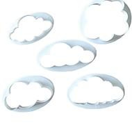 5 قطع رقيق الغيوم القاطع تزيين الكعكة فندان البسكويت كوكي القاطع فندان