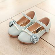 baratos Sapatos de Menina-Para Meninas Sapatos Flocagem / Couro Ecológico Primavera Verão Conforto Rasos Caminhada Pérolas Sintéticas / Flor / Velcro para Infantil
