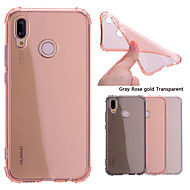 Etui Til Huawei P20 Pro / P20 lite Stødsikker / Transparent Bagcover Ensfarvet Blødt TPU for Huawei P20 / Huawei P20 Pro / Huawei P20 lite