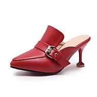 preiswerte -Damen Schuhe PU Sommer Komfort Cloggs & Pantoletten Konischer Absatz Schwarz / Rot / Leicht Grün