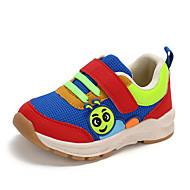 baratos Sapatos de Menina-Para Meninas Sapatos Com Transparência / Couro Ecológico Primavera Verão Conforto Tênis Caminhada para Infantil Vermelho / Azul / Rosa claro