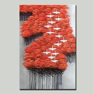 povoljno -Hang oslikana uljanim bojama Ručno oslikana - Sažetak / Pejzaž Moderna Platno