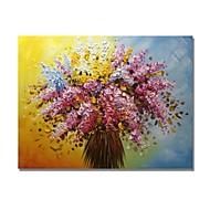 billiga Abstrakta målningar-Hang målad oljemålning HANDMÅLAD - Abstrakt / Blommig / Botanisk Samtida / Moderna Duk