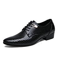 baratos Sapatos Masculinos-Homens Sapatos formais PVC / Couro Ecológico Verão Oxfords Preto / Azul / Casamento / Festas & Noite