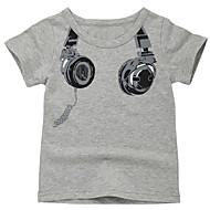 Děti Chlapecké Aktivní Denní Tisk Tisk Krátký rukáv Standardní Bavlna Košilky Bílá