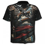 Χαμηλού Κόστους -Ανδρικά T-shirt Βασικό Γεωμετρικό