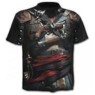 abordables -Hombre Básico Camiseta Geométrico